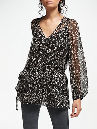 AND/OR Lydia Ivy Print Top, Black