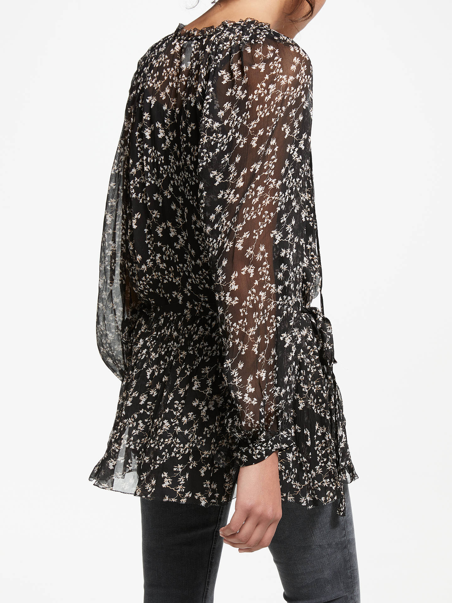 Buy AND/OR Lydia Ivy Print Top, Black, 8 Online at johnlewis.com