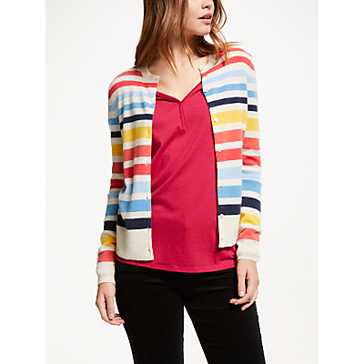 Collection WEEKEND by John Lewis Cashmere Multi Stripe Cardigan, Multi Stripe