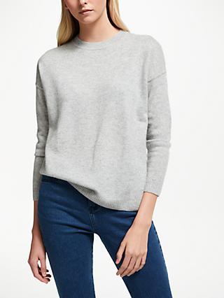 Collection WEEKEND by John Lewis Cashmere Rib Detail Drop Sleeve Jumper