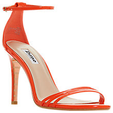 Buy Dune Marabella Stiletto Heel Sandals, Orange Online at johnlewis.com