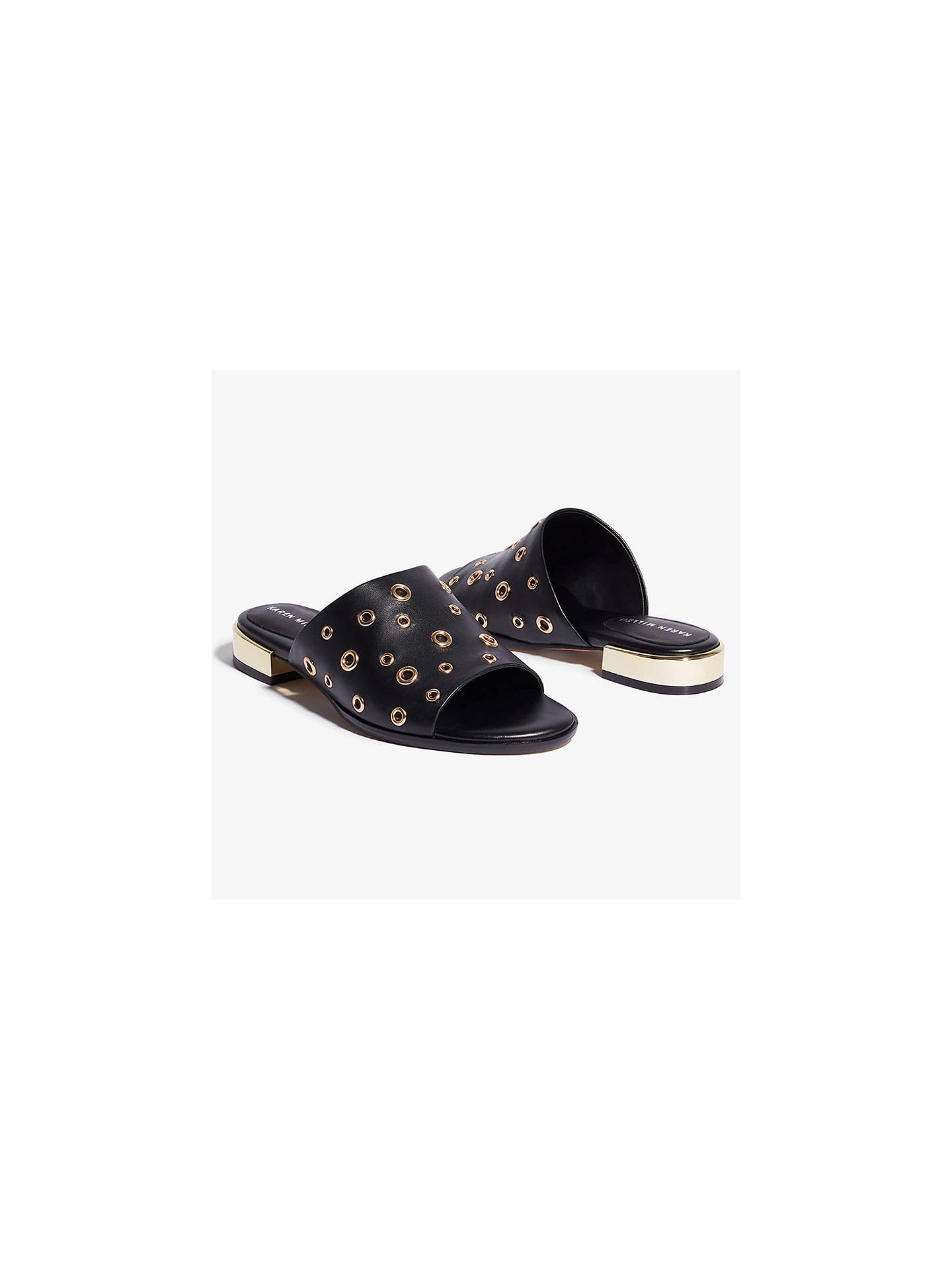 7dd2e180da0d ... Buy Karen Millen Block Heel Eyelet Mule Sandals