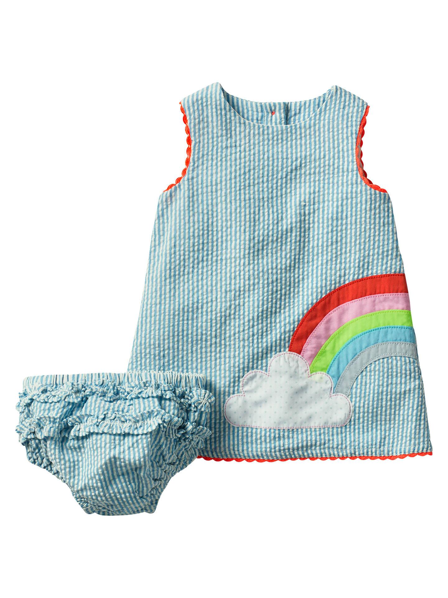 c751cd562198 Buy Mini Boden Sunny Days Rainbow Dress and Knickers Set, Blue, 0-3 ...