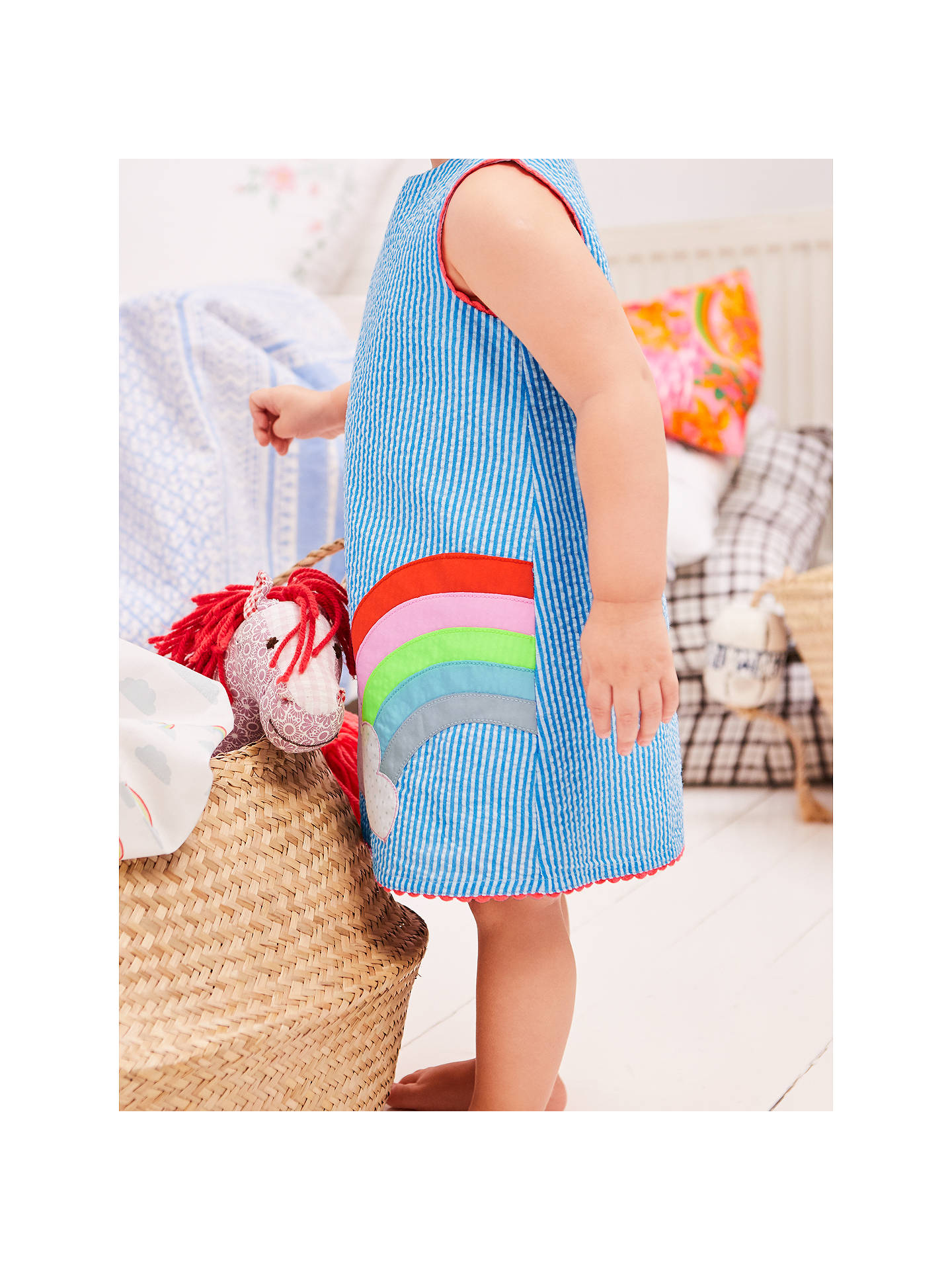 6f1878ea7ab0 ... Buy Mini Boden Sunny Days Rainbow Dress and Knickers Set, Blue, 0-3 ...