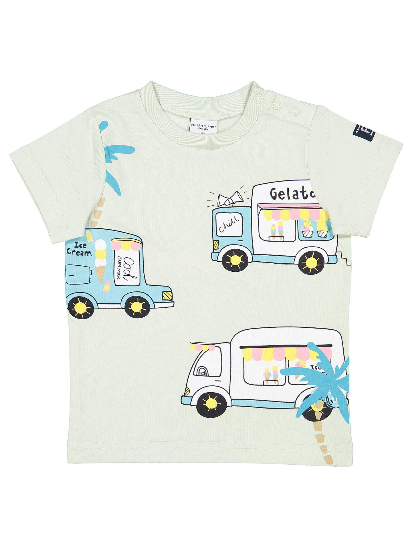 Polarn O Pyret Baby Gots Organic Cotton Ice Cream Van T Shirt