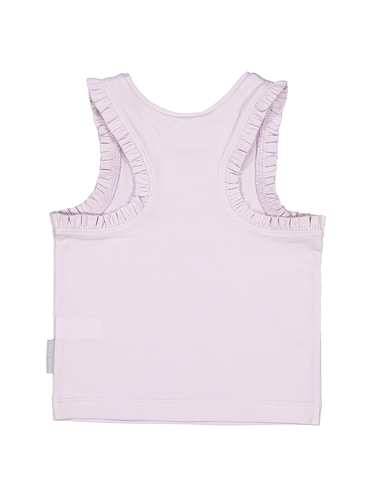 BuyPolarn O. Pyret Baby Love Slogan Top, Purple, 6-9 months Online at johnlewis.com