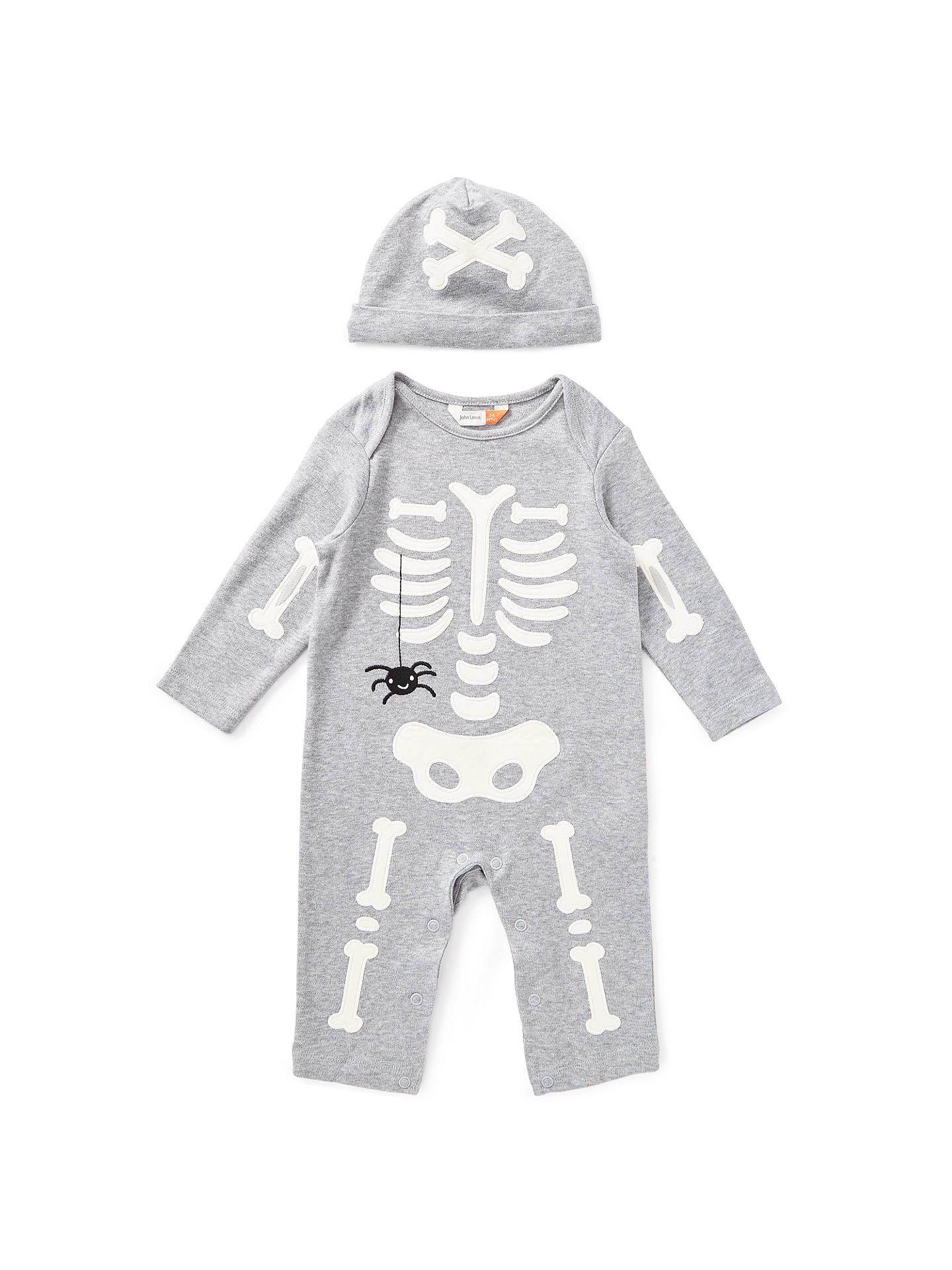 aa432cda4522 John Lewis   Partners Baby Skeleton Romper and Hat