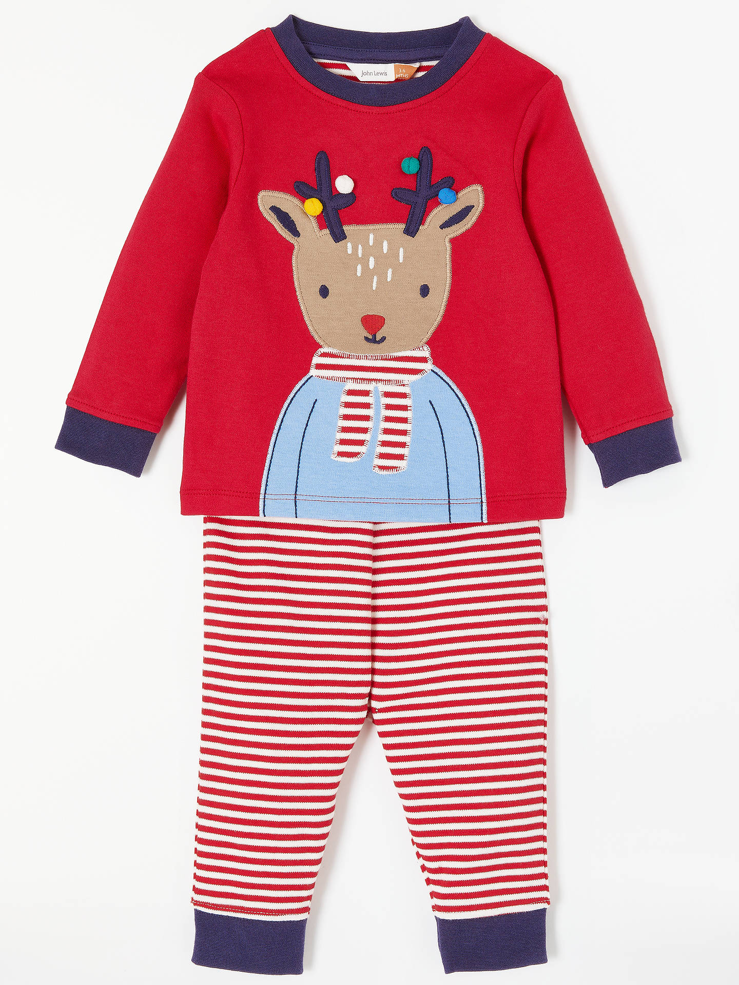 eb16e4ecb9 BuyJohn Lewis   Partners Baby Christmas Reindeer Pyjama Set