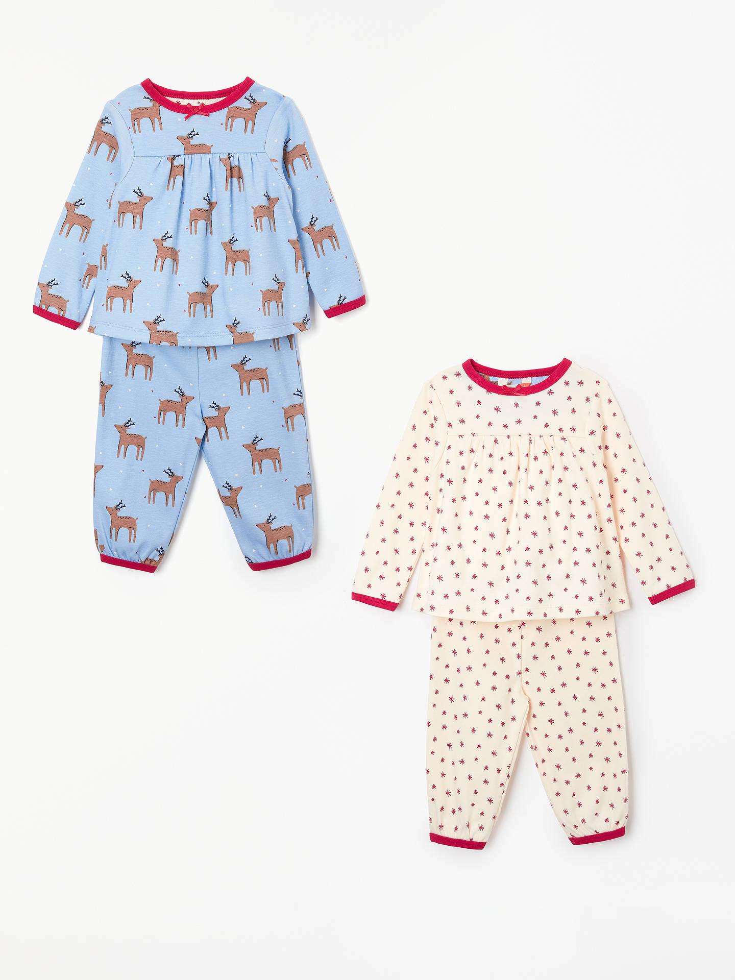 3a3dcab3644a John Lewis   Partners Baby Reindeer Star Pyjamas