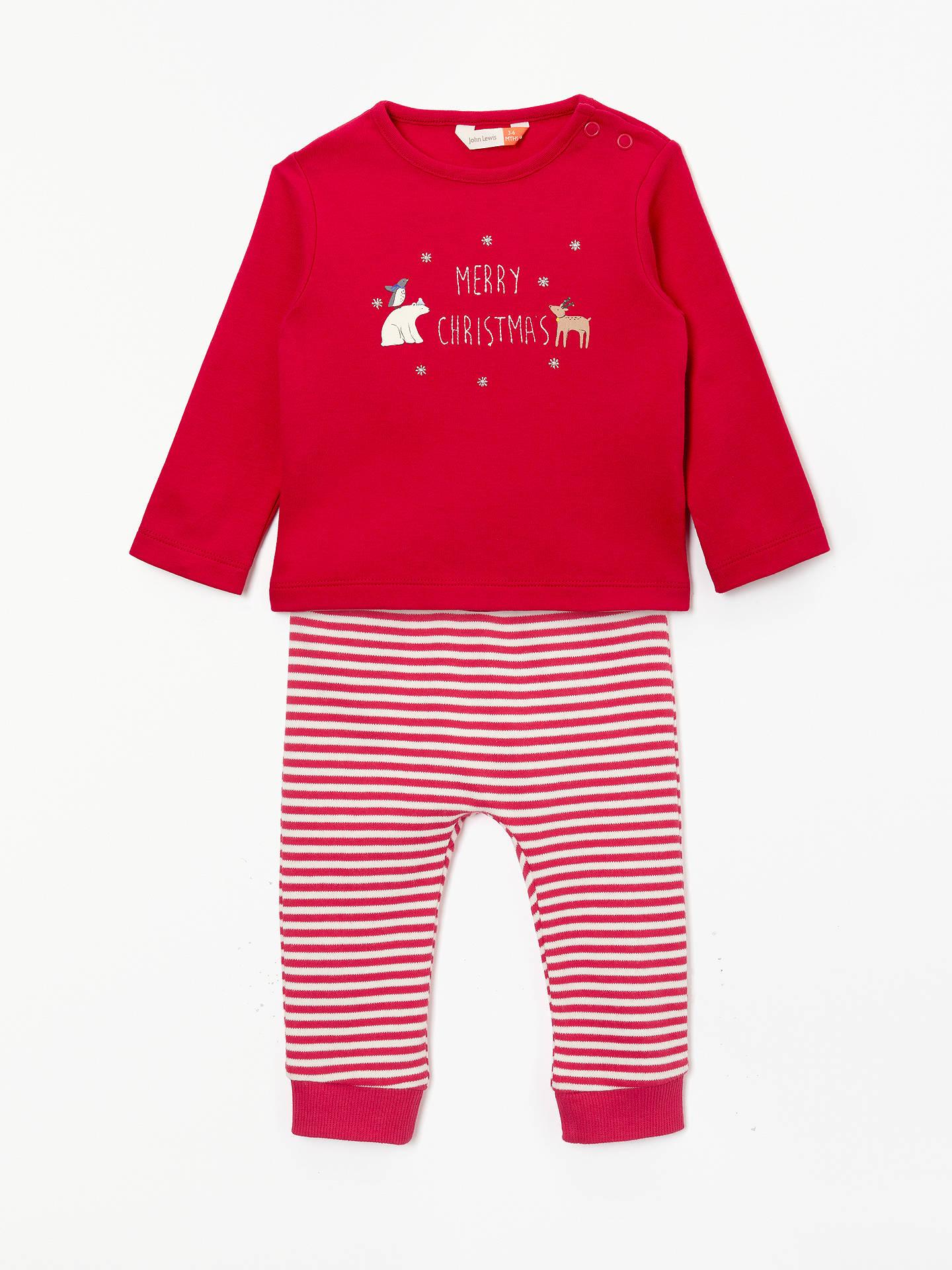 ad58a6acbe9b39 Buy John Lewis & Partners Baby Christmas Long Sleeve T-Shirt and Legging Set,  ...