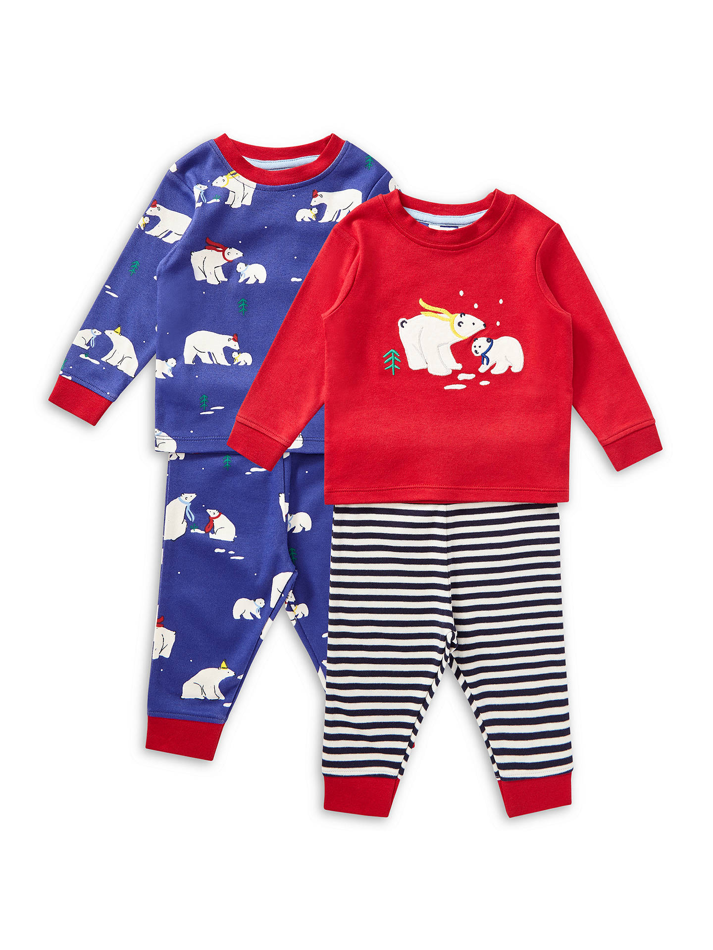 1fe8e246431e John Lewis   Partners Baby Christmas Polar Bear Pyjamas