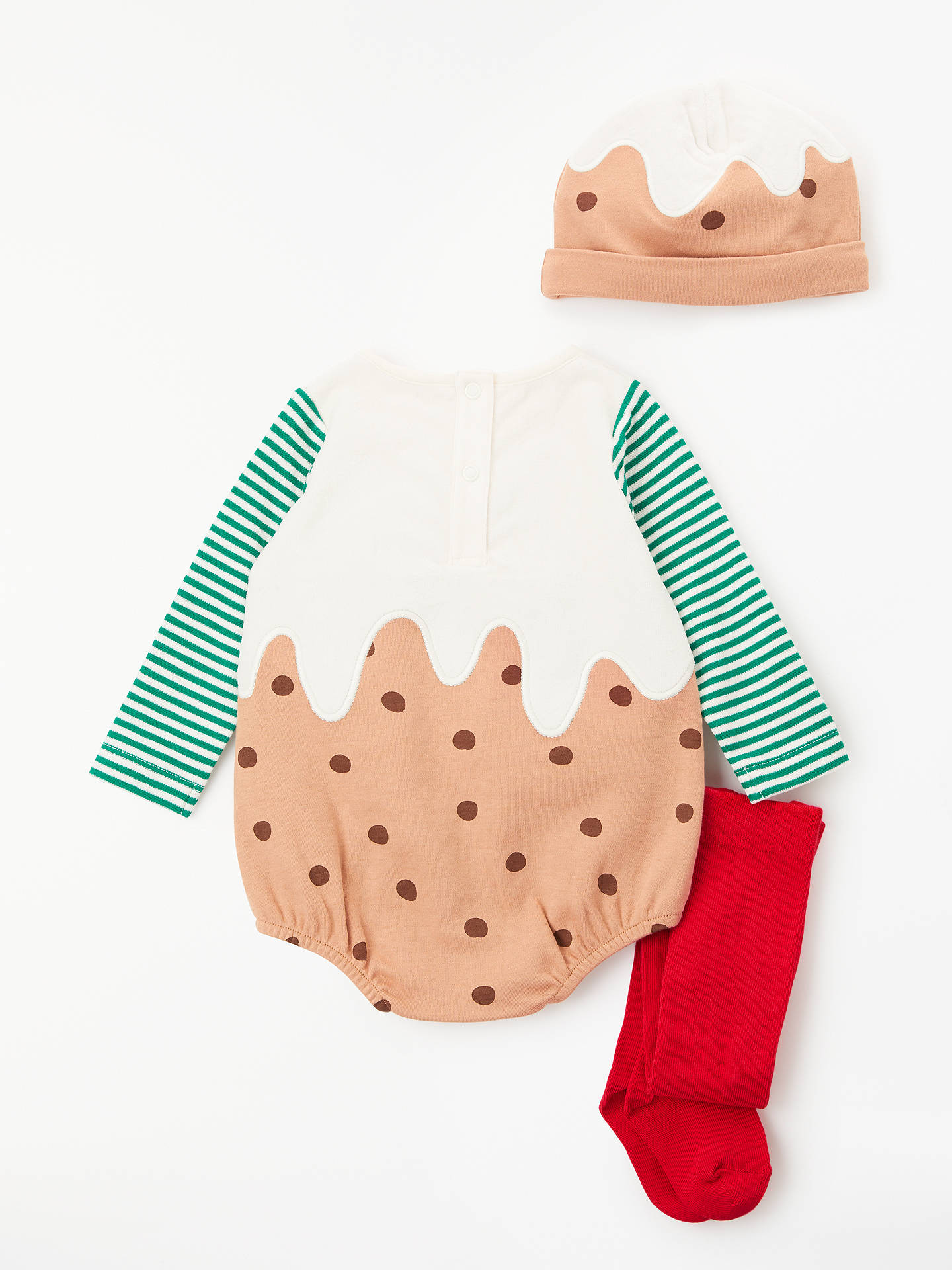Christmas Pudding Baby Outfit.John Lewis Partners Baby Christmas Pudding Romper Set