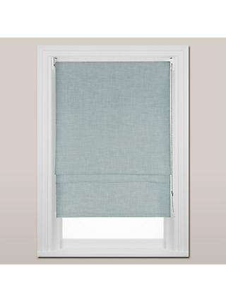 John Lewis & Partners Hessian Blackout Roman Blind, Duck Egg