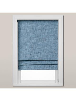 John Lewis & Partners Multi Weave Blackout Roman Blind, Blue