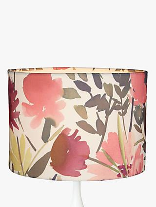 John Lewis & Partners Bloom Floral Lampshade, Pink