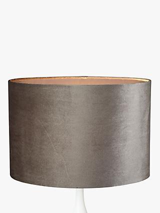 John Lewis Jenny Velvet Oval Lampshade Grey