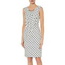 Buy Gina Bacconi Ivonne Scuba Dress, White/Black Online at johnlewis.com