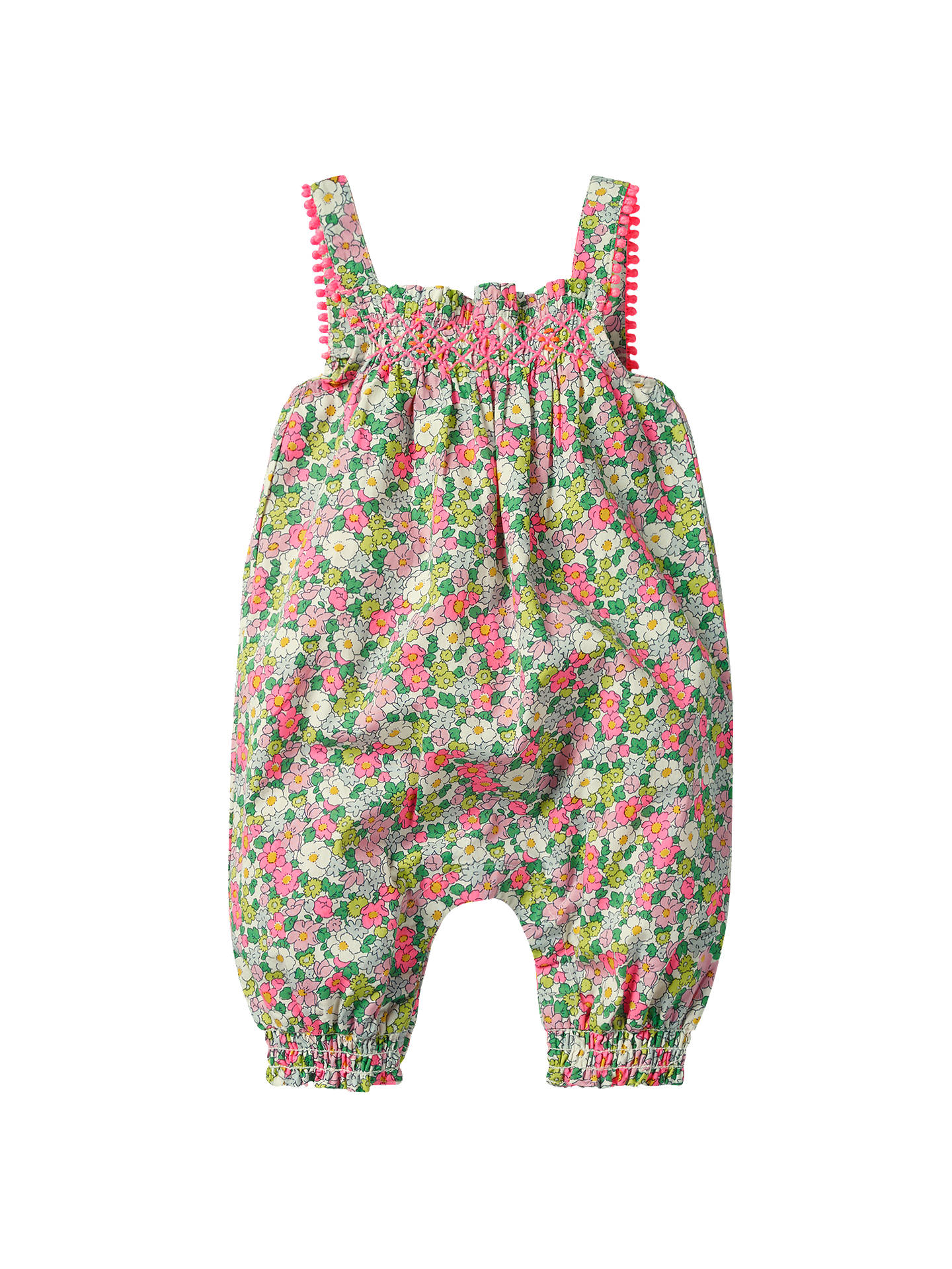 a2dc01383 Buy Mini Boden Baby Floral Smock Romper, Multi, 0-3 months Online at