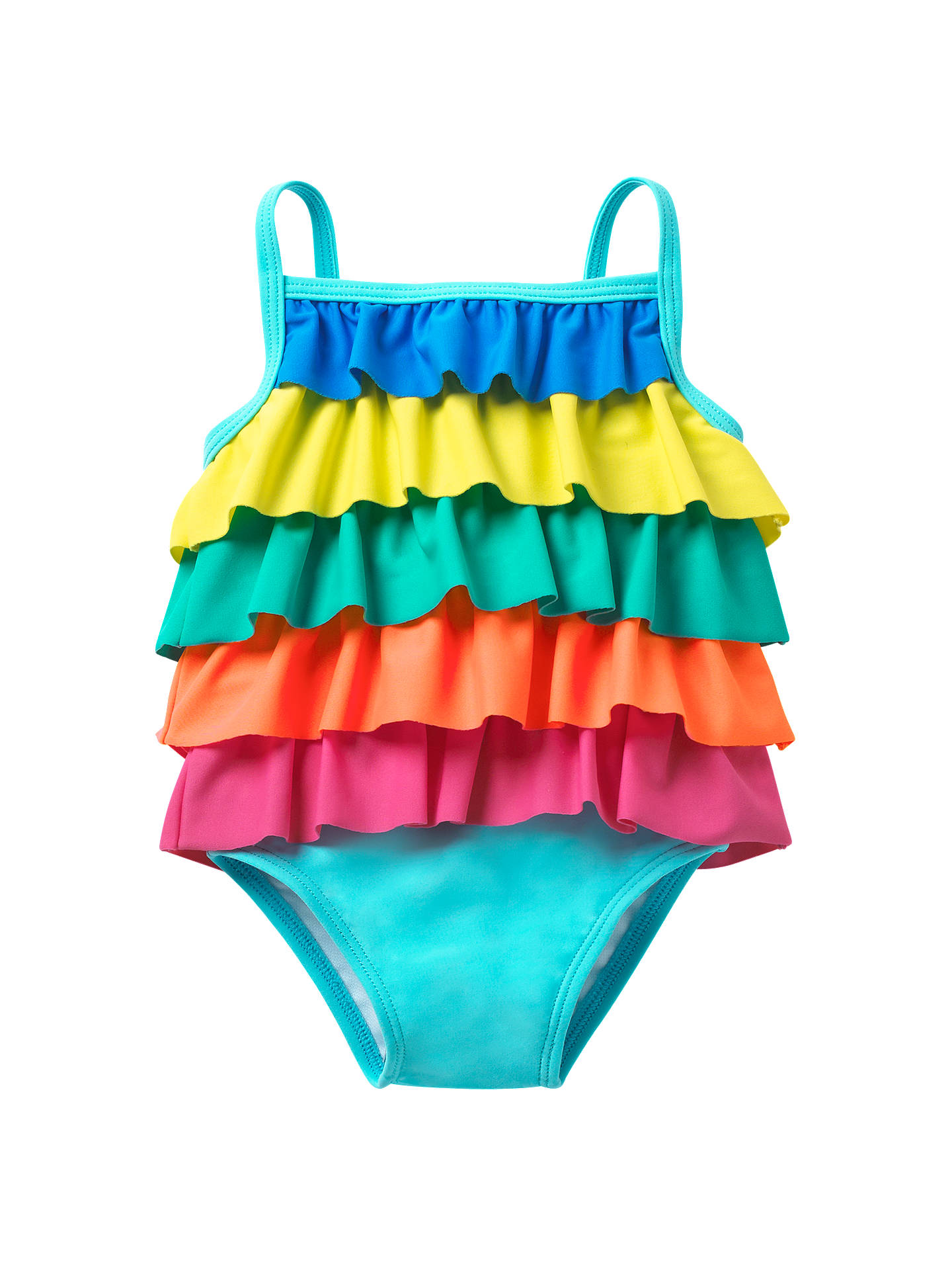 b1197095c8 Buy Mini Boden Baby Frilly Swimsuit, Multi, 3-6 months Online at johnlewis  ...