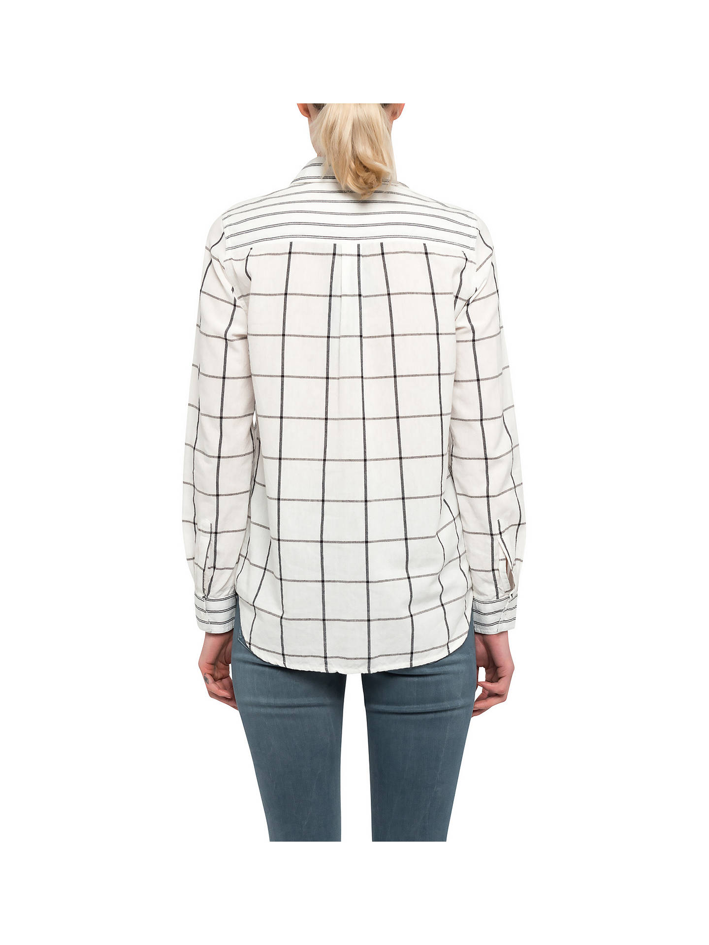 04d44b6ed59 ... Buy French Connection Maras Patchwork Shirt, Summer White/Black, 6  Online at johnlewis ...
