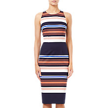 Buy Adrianna Papell Knit Sheath Dress, Coral Multi Online at johnlewis.com
