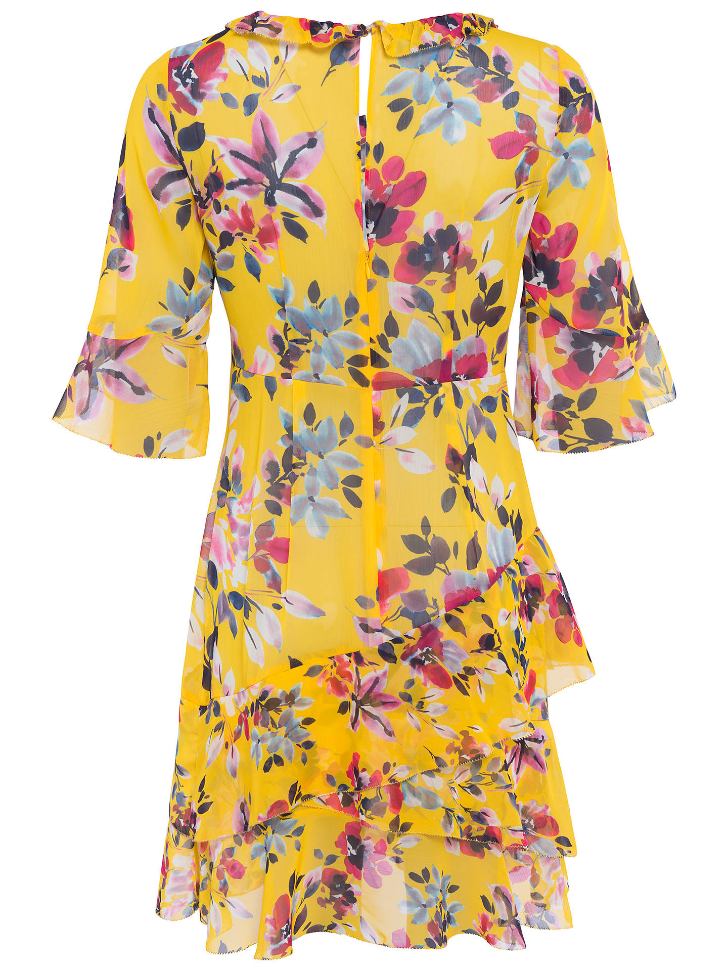 1cd51e8b980 French Connection Linosa Crinkle Tiered Dress, Citrus at John Lewis ...