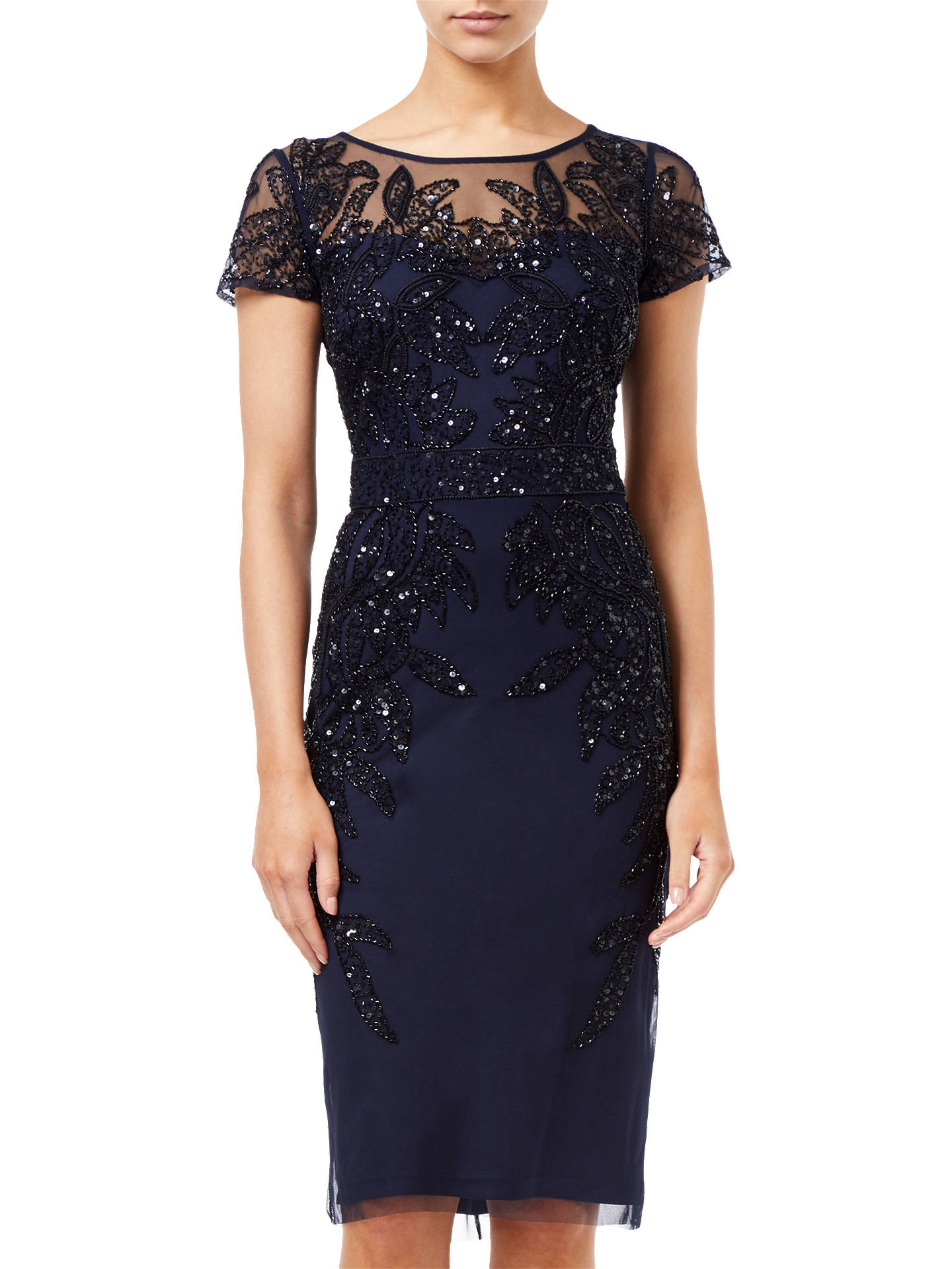 ef3aa00b4ca Buy Adrianna Papell Short Sleeve Beaded Cocktail Dress