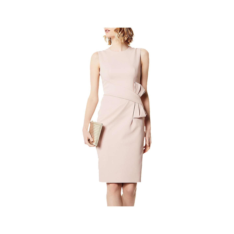 Karen Millen Escaping Bow Dress, Pale Pink at John Lewis