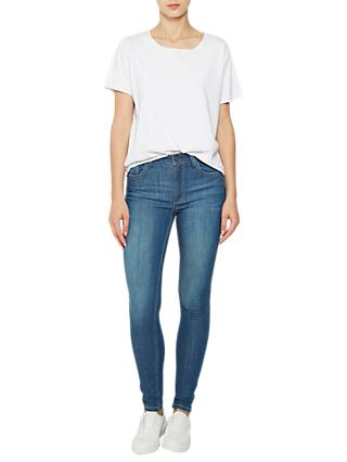 French Connection Rebound Skinny Jeans, Pine Blue