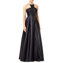 Buy Adrianna Papell Mikado Long Dress, Black Online at johnlewis.com