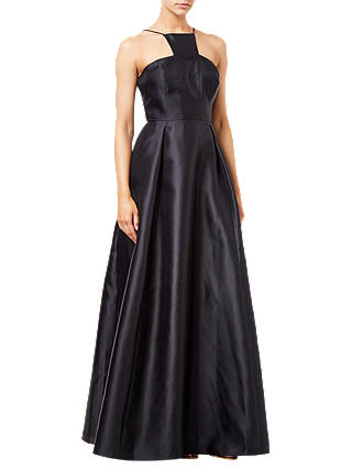 Buy Adrianna Papell Mikado Long Dress, Black, 8 Online at johnlewis.com