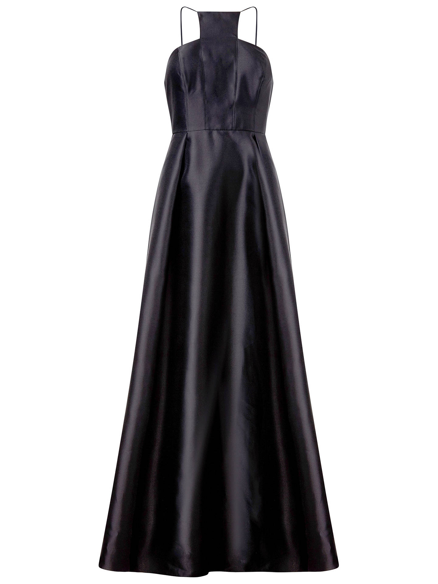 BuyAdrianna Papell Mikado Long Dress, Black, 10 Online at johnlewis.com