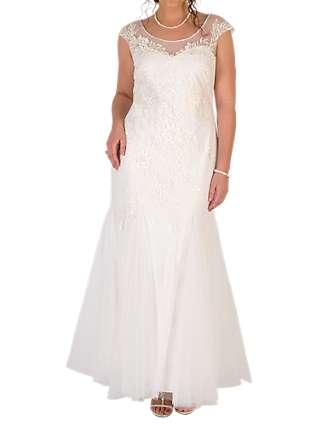 Chesca Godet Tulle Wedding Dress, Ivory