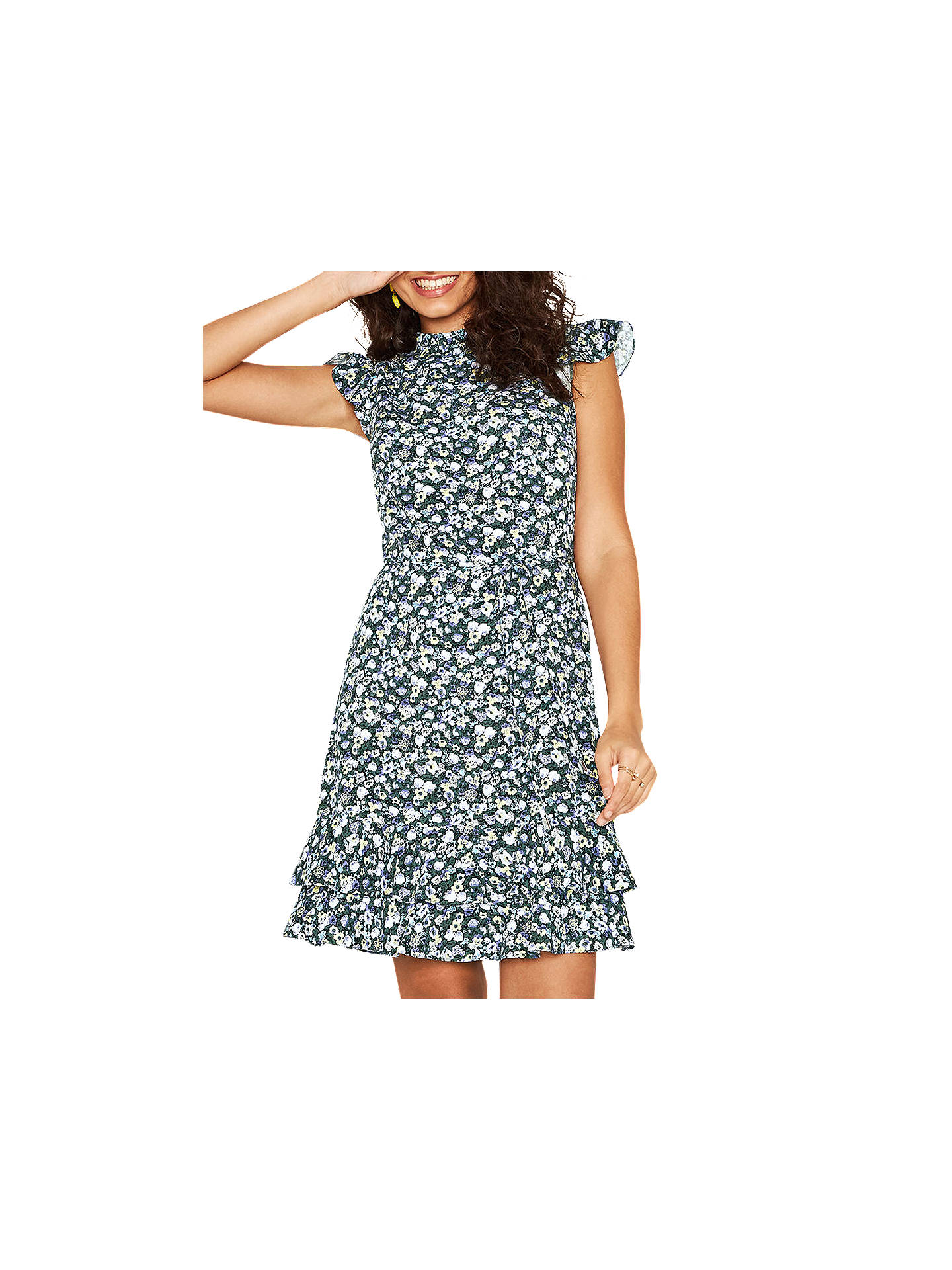 392b633d3a3f Buy Oasis Ditsy High Neck Skater Dress, Multi, 8 Online at johnlewis.com ...