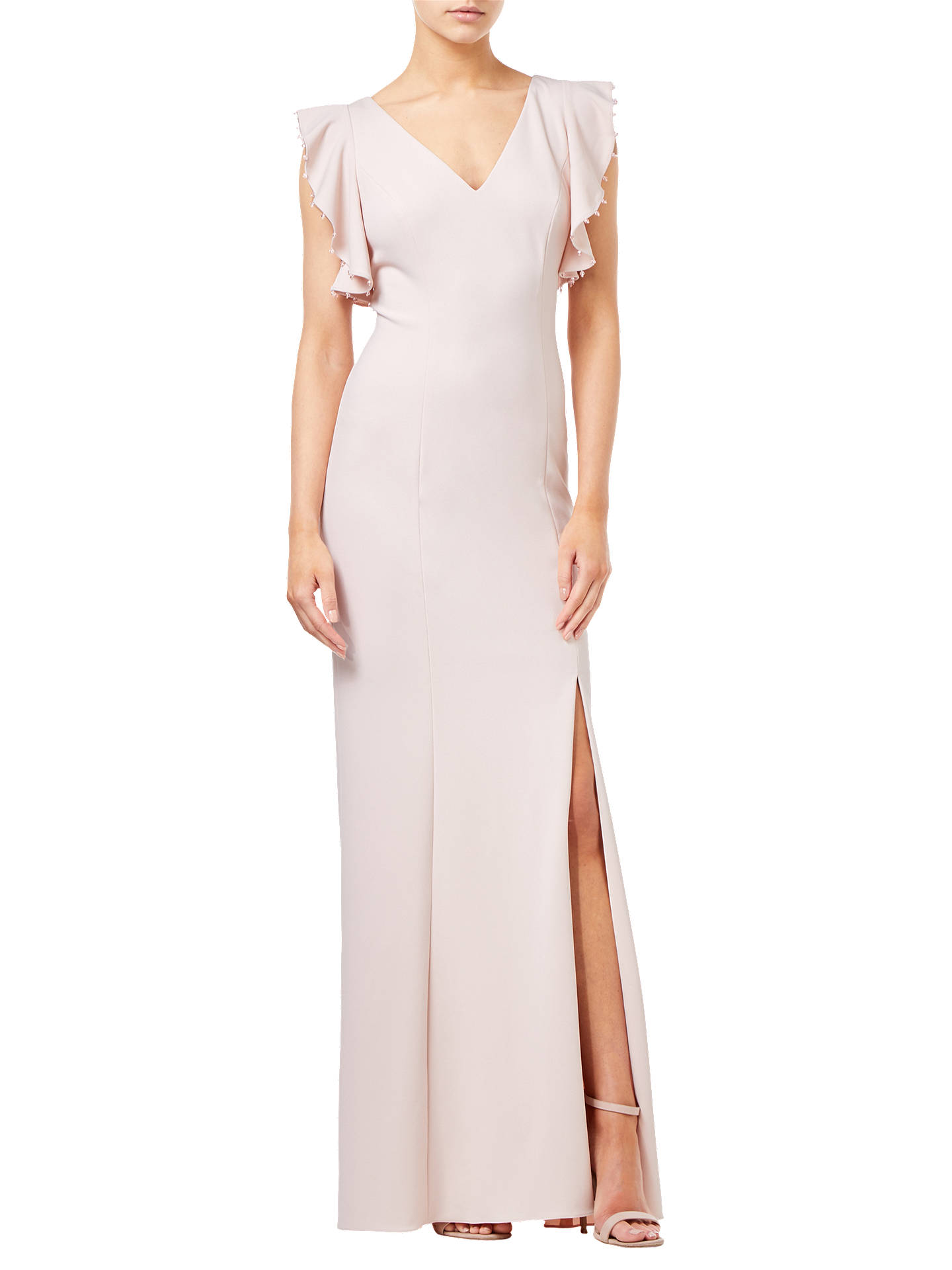 BuyAdrianna Papell Long Crepe Dress, Light Blush, 8 Online at johnlewis.com