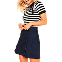 Buy Oasis Napoli Stripe Bow Knit Top, Multi Online at johnlewis.com