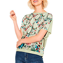 Buy Oasis Fitzwilliam Woven Front Knit Top, Multi Online at johnlewis.com