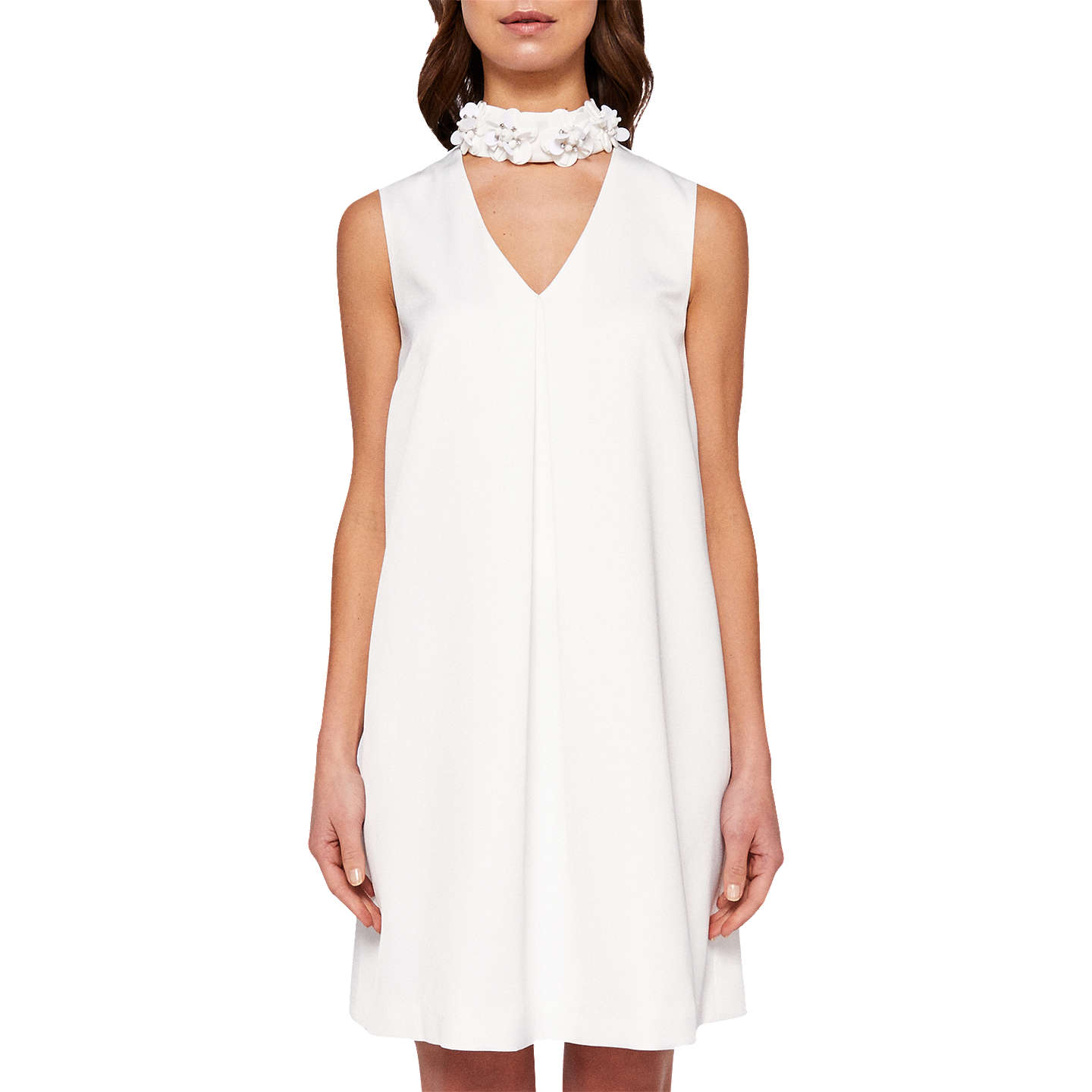 Ted Baker Kassiaa A Line High Collar Tunic Dress White At John Lewis