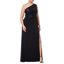 Buy Adrianna Papell Plus Size Sequin Mermaid Gown, Black Online at johnlewis.com