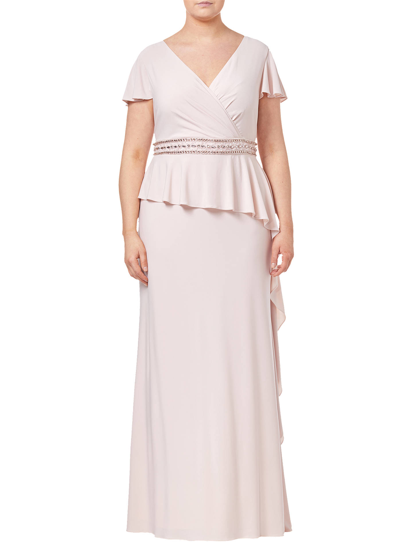 Buy Adrianna Papell Drape Jersey Dress, Blush Pink, 18 Online at johnlewis.com