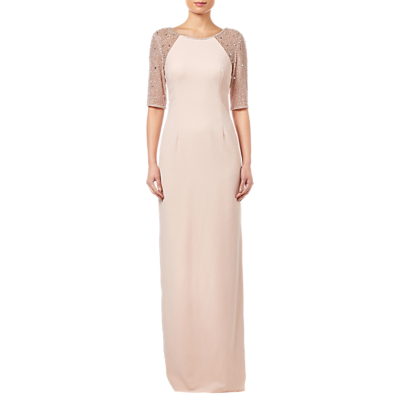 Adrianna Papell Beaded Long Dress, Lily Rose