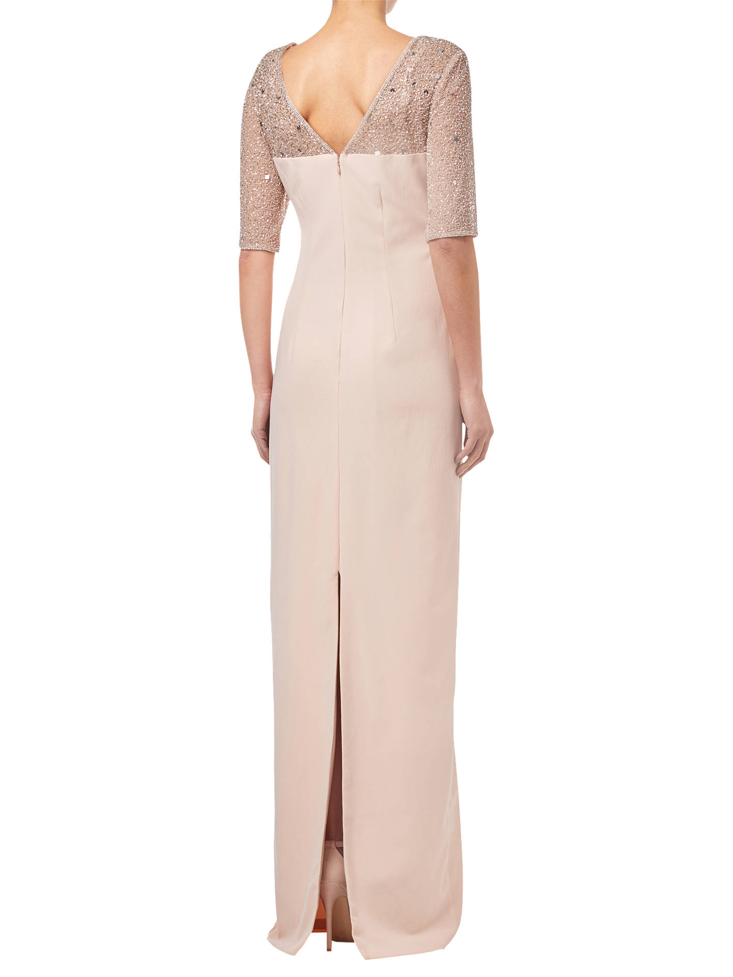 Buy Adrianna Papell Beaded Long Dress, Lily Rose, 8 Online at johnlewis.com
