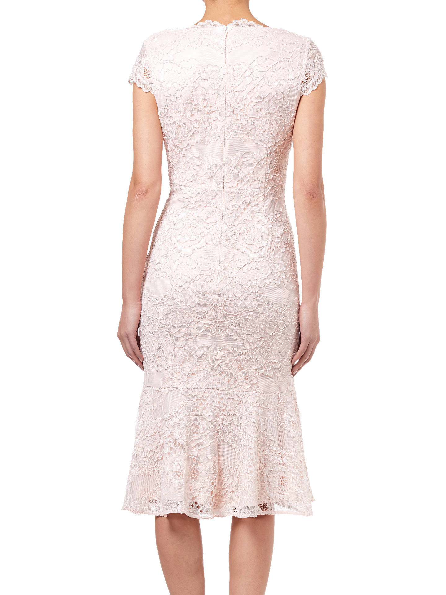BuyAdrianna Papell Short Lace Dress, Blush, 10 Online at johnlewis.com