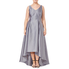 Buy Adrianna Papell Plus Size Sleeveless Long Dress, Silver Online at johnlewis.com