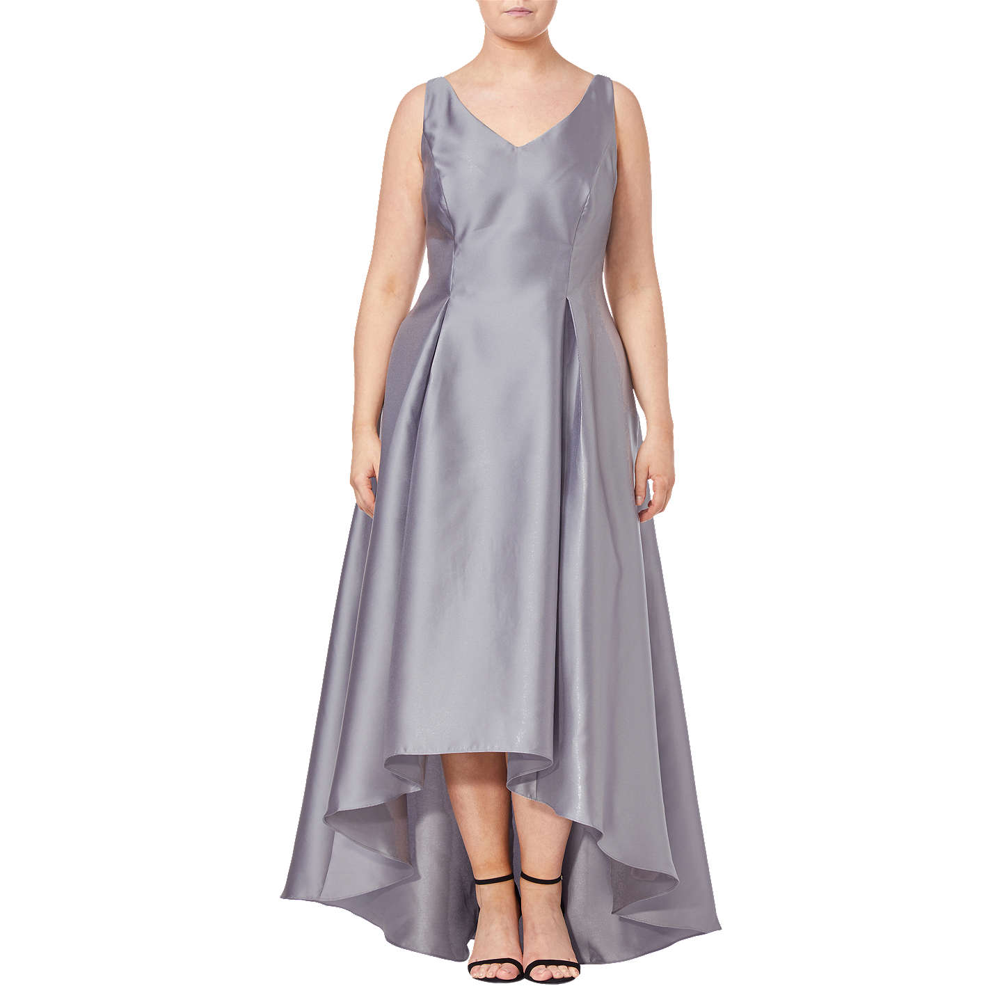 Adrianna Papell Plus Size Sleeveless Long Dress Silver At John Lewis