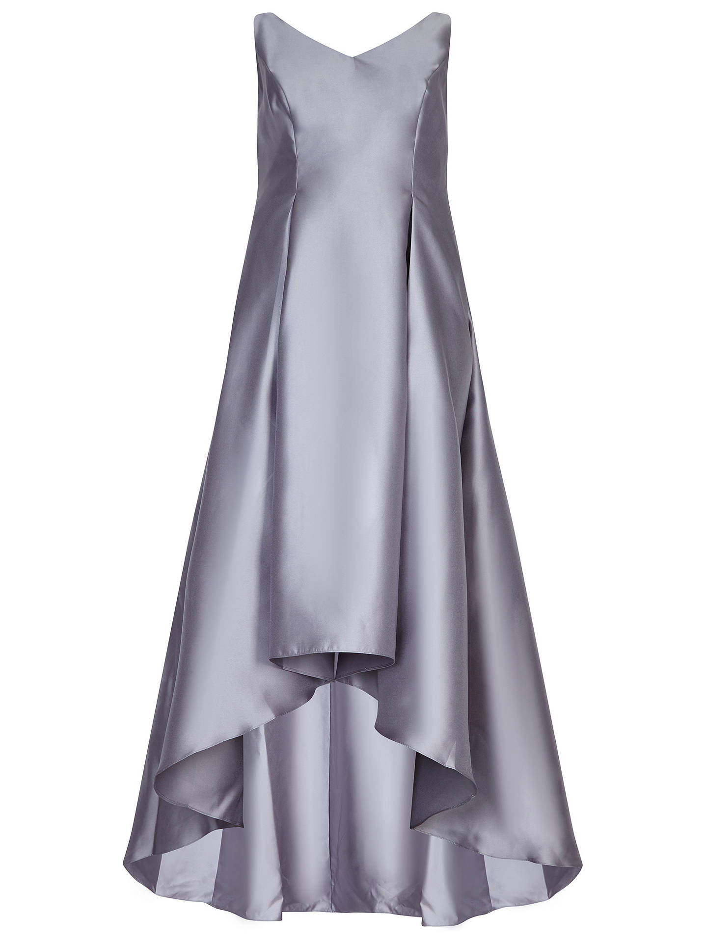 BuyAdrianna Papell Sleeveless Long Dress, Silver, 20 Online at johnlewis.com