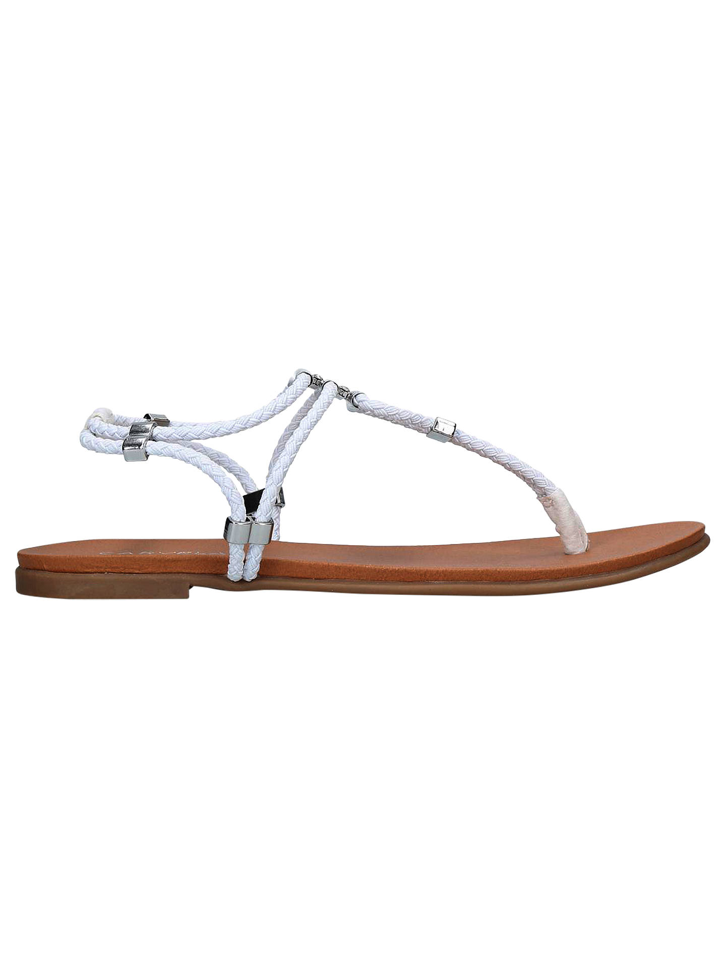 BuyCarvela Ace Toe Post Sandals, White, 3 Online at johnlewis.com