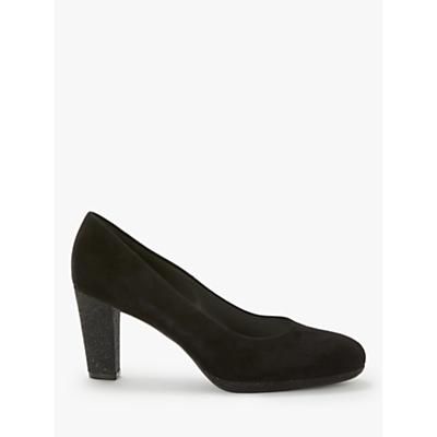 Peter Kaiser Karolena Block Heel Court Shoes, Black Suede