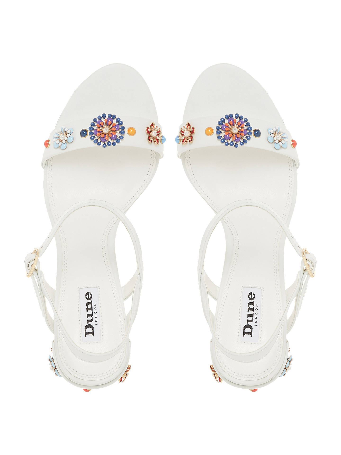 42a53127b28 ... Buy Dune Moonflower Embellished Block Heel Sandals