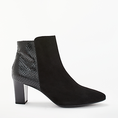 Peter Kaiser Madita Block Heeled Ankle Boots, Black Suede